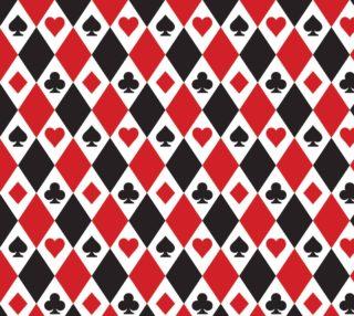 Aperçu de Casino - Hearts, Clubs, Spades, Diamonds Harlequin Pattern