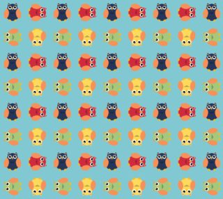 Aperçu de Cute Owls Light Blue