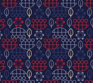 blue geometric scandi style art preview