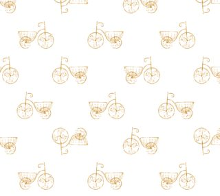 Retro Bicycles Motif Vintage Fabric Pattern preview