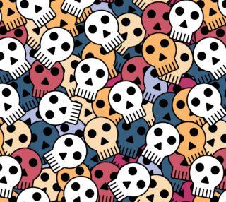 halloween skull seamless preview
