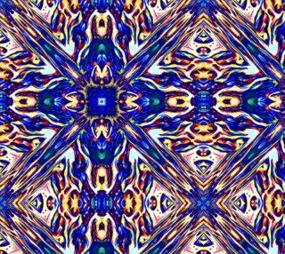 Blue MoltenRain Kaleidoscope repeat 150dpi preview