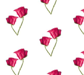Red Roses Photo Fabric Pattern preview