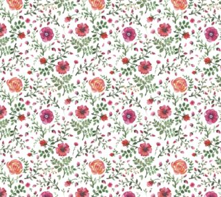 Aperçu de flowers watercolor of floral rose seamless pattern