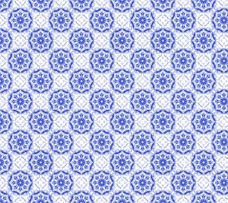 baroque floral seamless blue pattern preview