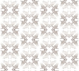 Floral damask silver pattern preview