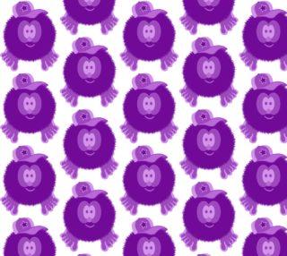 Purple Baseball Cap Pom Pom Pal preview