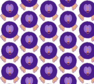 Purple and Orange Pom Pom Pal preview
