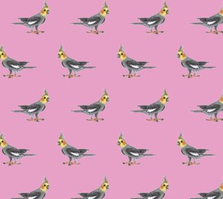 Aperçu de Cockateel birds pattern Fabric