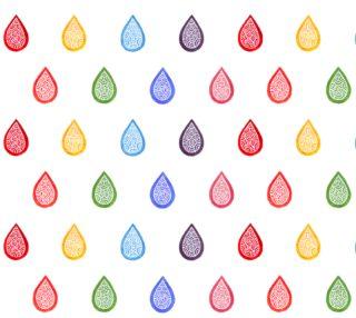 Aperçu de Rainbow raindrops Fabric