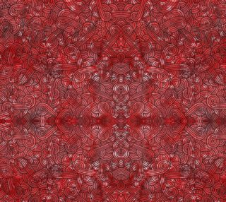 Aperçu de Red and black swirls doodles Fabric