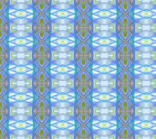 Fractal ethnic blue pattern preview