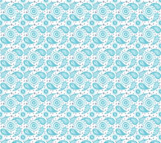 Paisley teal seamless pattern. preview