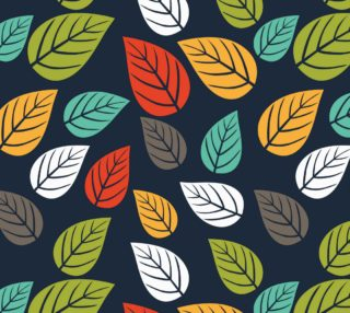Leaves on Dark Blue Background preview
