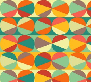Aperçu de Retro Geometric - Orange, Teal, Red
