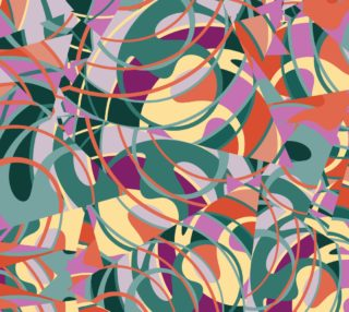 Colorful Abstract - Greens and Golds preview