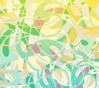 Summer Beach Days Abstract -  Yellows And Blues  preview