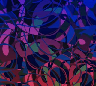 Hot Summer Nights Abstract - Reds and Blues  preview