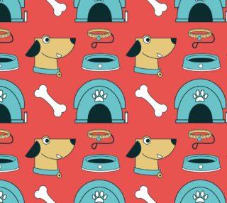 Aperçu de Adorable Puppy Dog Fabric