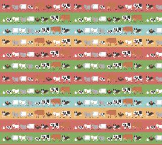 Aperçu de Farm Animals on Stripes