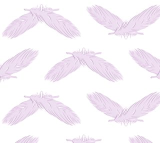 Boho feathers pink  pattern preview