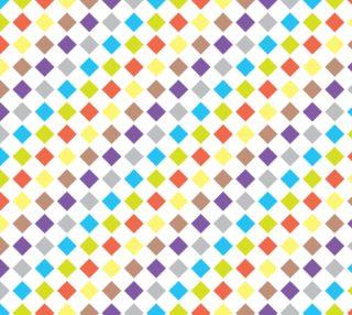 Aperçu de Delightful Diamonds - Multi Color Geometric Abstract