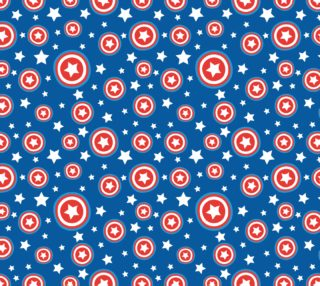 Aperçu de Red, White, Blue Patriotic Stars, Circles, Blue Background