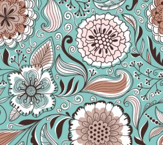 Aperçu de Hand Drawn Retro Doodle Floral