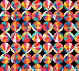 Aperçu de Circles and Triangles - Geometric on black background