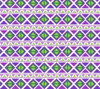 Aperçu de Purple and Green Abstract Geometric - Tribal Inspired
