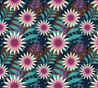 Aperçu de Retro Vintage Tropical Floral