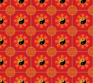 Aperçu de Chinese, Yin Yang, Colors: Red, Gold, Black