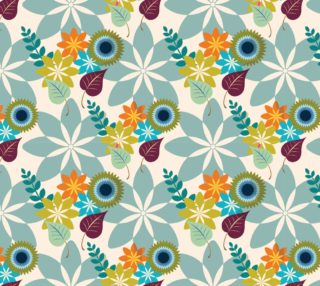 Aperçu de Tropical Floral, Retro Abstract Floral