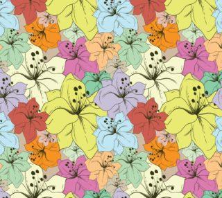 Aperçu de Sweet Multicolor Floral, Pastel Colors