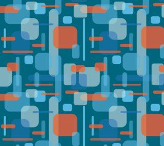 Aperçu de Geometric Abstract - Blue and Orange Blocks