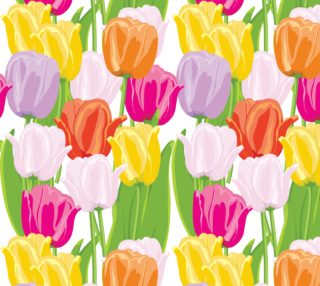 Aperçu de Spring Tulips - Perfect for Spring, Summer, Easter - pink, yellow, peach, lavender