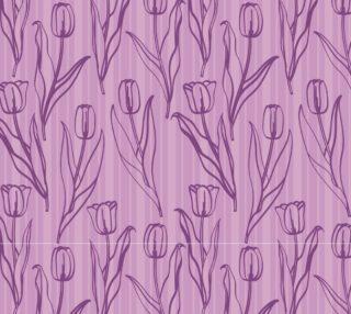 Aperçu de Tulips on Lavender Stripes