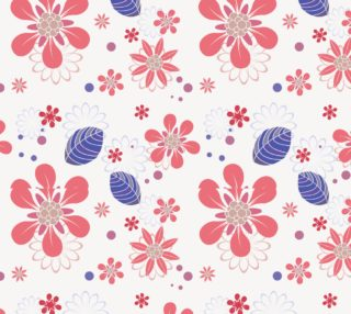 Aperçu de Sweet Pink and Blue Floral Fabric