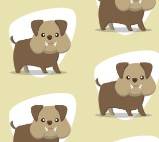 Aperçu de Bulldog on Pastel Background