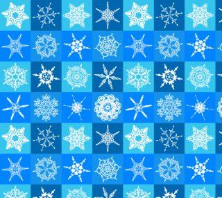 Aperçu de Winter Snowflakes on Ble