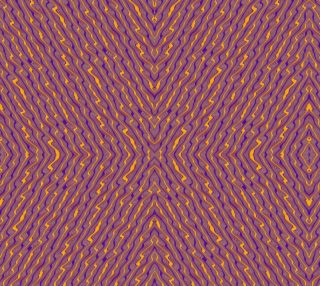 Orange Purple Crazy Stripes Fabric preview
