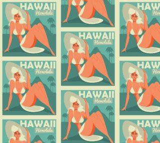 Aperçu de Vintage Retro Hawaii Girl