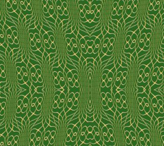 Green Orange Pineapple Twist Fabric preview