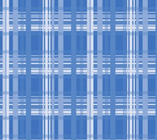 Blue Plaid Fabric preview