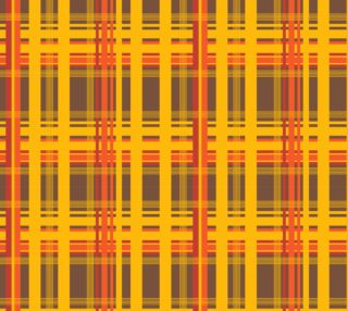 Orange Brown Plaid Fabric preview