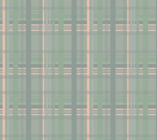 Peach Green Plaid Fabric preview