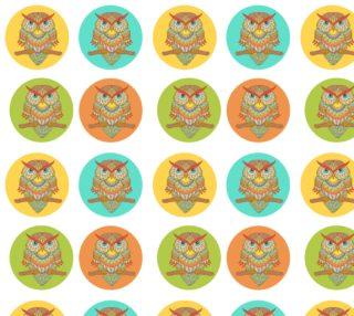 Aperçu de Colorful Retro Owls