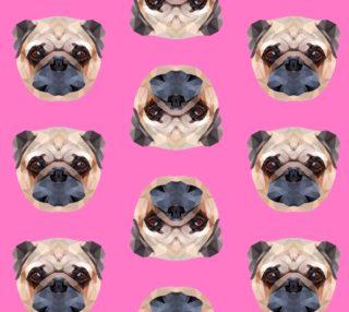 Aperçu de Pugs on Pink Background