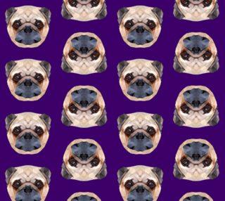 Aperçu de Pugs on Purple Background