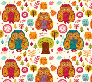 Aperçu de Colorful Owls